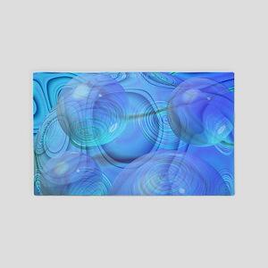 Inner Flow VI Azure Spheres 3'x5' Area Rug
