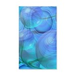 Inner Flow VI Azure Spheres 20x12 Wall Decal