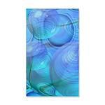 Inner Flow VI Azure Spheres 35x21 Wall Decal