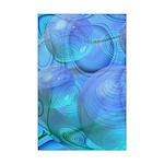Inner Flow VI Azure Spheres Mini Poster Print