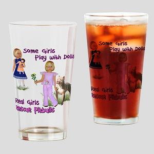 Real Girls Rescue Pitbulls Drinking Glass