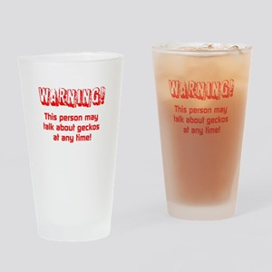 Gecko Warning Drinking Glass