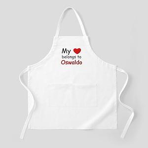 My heart belongs to oswaldo BBQ Apron
