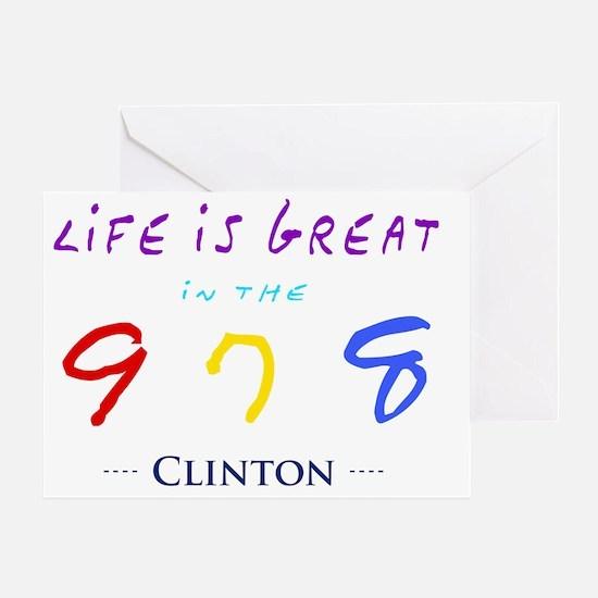 clinton Greeting Card