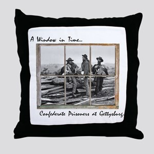 Gettysburg - Confederate Prisoners Throw Pillow