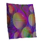 Inner Flow V Abstract Burlap Throw Pillow