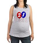 21st Birthday Maternity Tank Top