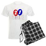 21st Birthday Men's Light Pajamas