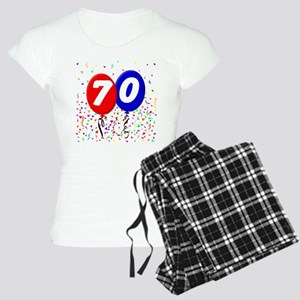 70th Birthday Women's Light Pajamas