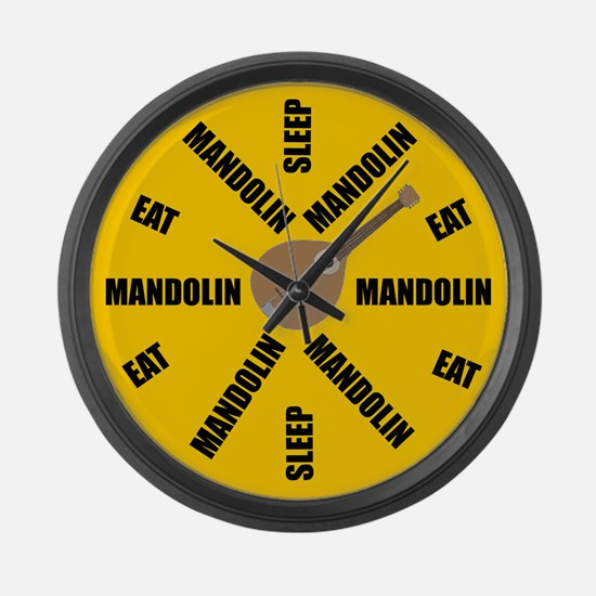 Eat Sleep Mandolin Large Wall Clock