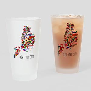 New York City Ethnic Map Drinking Glass