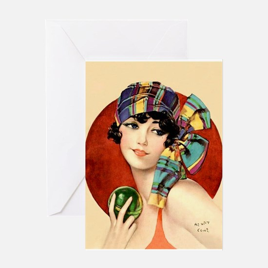Art Deco Flapper Pin Up in Bathing Suit Roaring 20