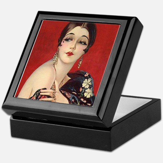 Art Deco Flapper Pin Up with Bob Glamorous Jazz Ag