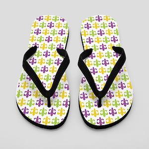Fleur-de-lis Pattern Flip Flops