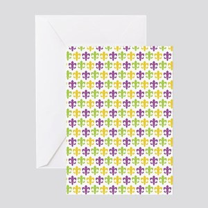 Fleur-de-lis Pattern Greeting Cards