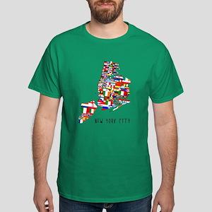 New York City Ethnic Map T-Shirt