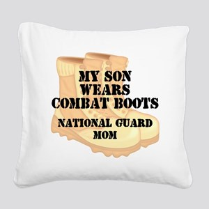 National Guard Mom Son Desert Combat Boots Square