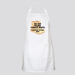 National Guard Mom Son Desert Combat Boots Apron