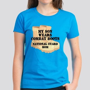 National Guard Mom Son Desert Combat Boots T-Shirt