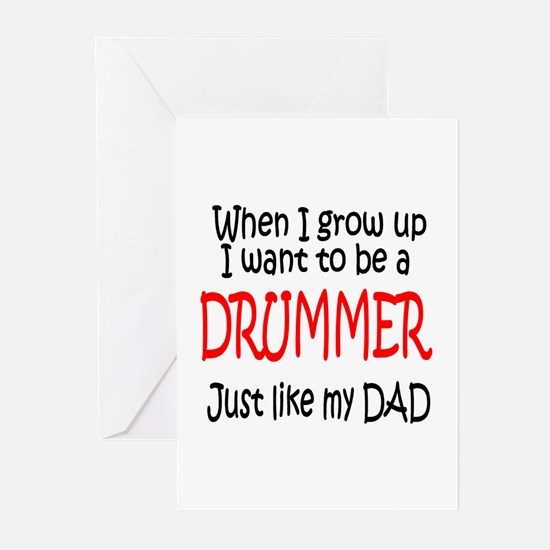 Drummer - like dad Greeting Cards (Pk of 10)