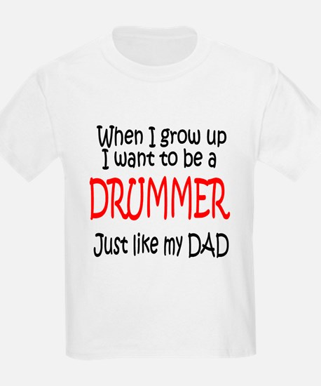 Drummer - like dad Kids T-Shirt