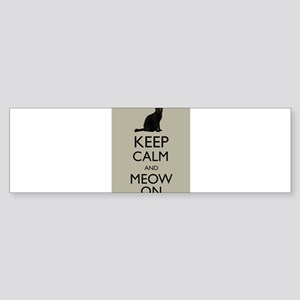 Keep Calm and Meow On Black Cat Humor Parody Bumpe