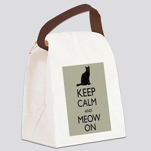 Keep Calm and Meow On Black Cat Humor Parody Canva