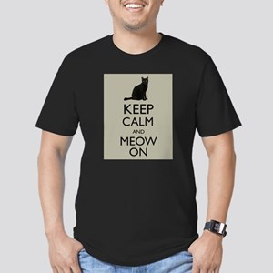 Keep Calm and Meow On Black Cat Humor Parody T-Shi