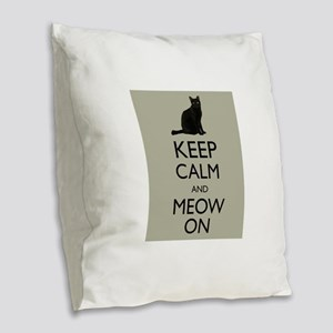 Keep Calm and Meow On Black Cat Humor Parody Burla