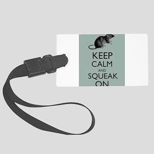 Keep Calm and Squeak On Pet Rat Humor Parody Lugga