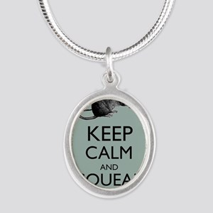 Keep Calm and Squeak On Pet Rat Humor Parody Neckl
