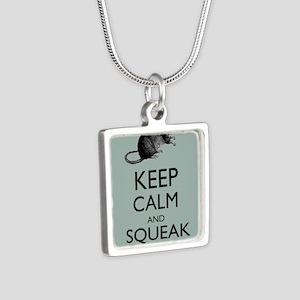 Keep Calm and Squeak On Pet Rat Humor Parody Neckl