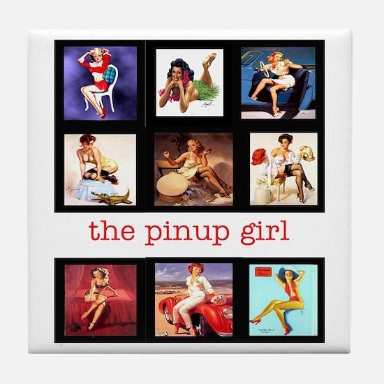 """The Pinup Girl"" Tile Coaster"