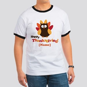 Personalized Happy Thanksgiving Owl Ringer T