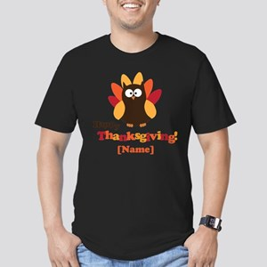 Personalized Happy Thanksgiving Owl Men's Fitted T