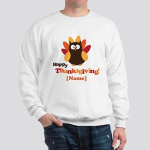 Personalized Happy Thanksgiving Owl Sweatshirt