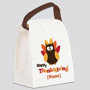 Personalized Happy Thanksgiving Owl Canvas Lunch B