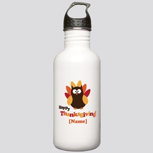 Personalized Happy Thanksgiving Owl Stainless Wate