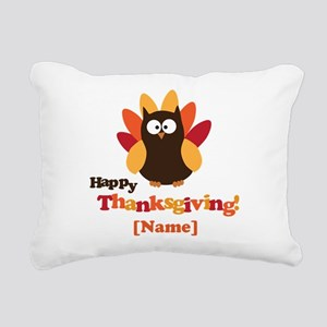Personalized Happy Thanksgiving Owl Rectangular Ca