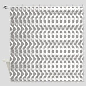 Paloma Gray Diamond Trellis Shower Curtain