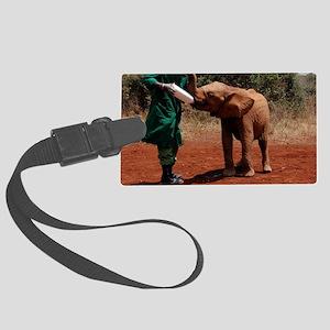 Baby Elephant2 Large Luggage Tag