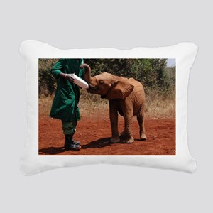 Baby Elephant2 Rectangular Canvas Pillow