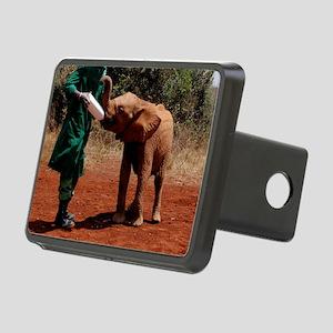 Baby Elephant2 Rectangular Hitch Cover