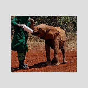 Baby Elephant2 Throw Blanket