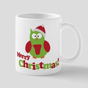 Merry Christmas Owl Mug