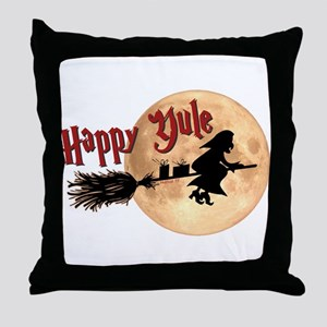Happy Yule Throw Pillow