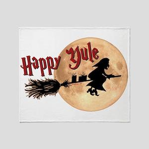 Happy Yule Throw Blanket