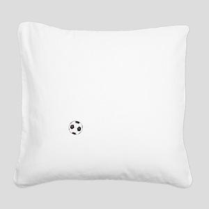 Soccer Goals White Square Canvas Pillow