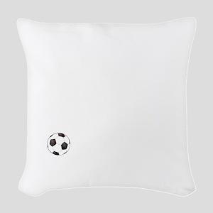 Soccer Goals White Woven Throw Pillow