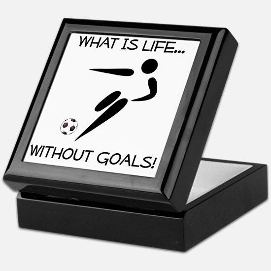 Soccer Goals Black Keepsake Box